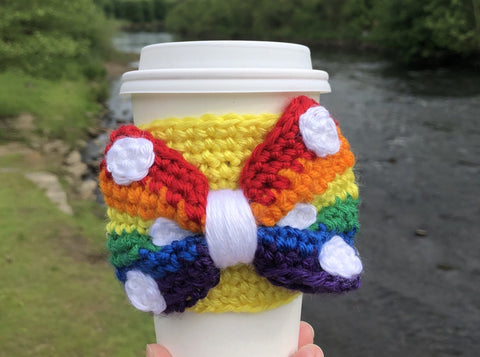 Pride Bow Coffee Cozy