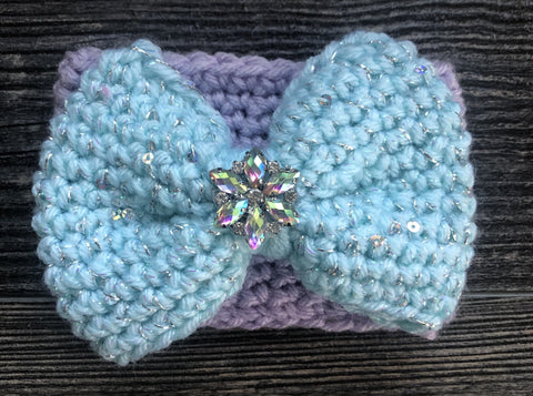 Frozen Snowflake Bow Coffee Cozy