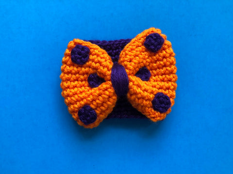 Halloween Bow Coffee Cozy