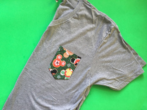 Christmas Unisex V-Neck Pocket Tee