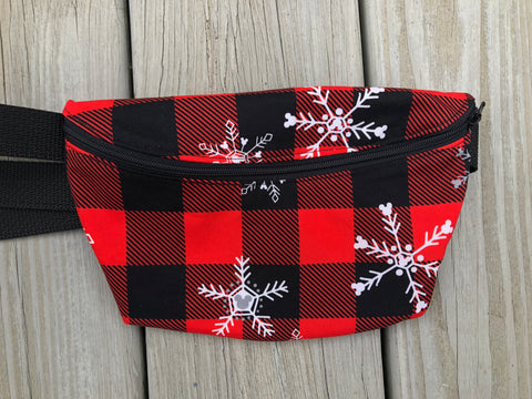 Plaid Sweater Fanny Pack