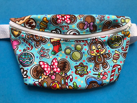 Blue Gingerbread Fanny Pack