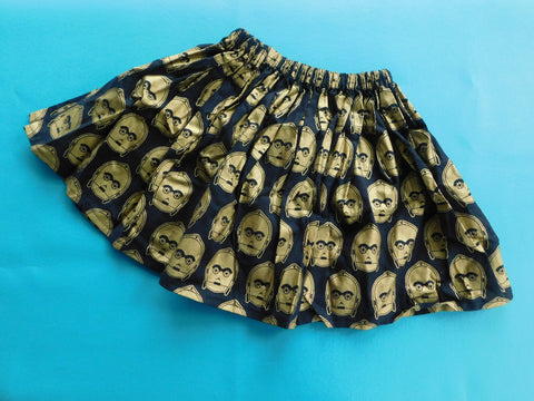 Ready to Ship 4T Golden Droid Skirt