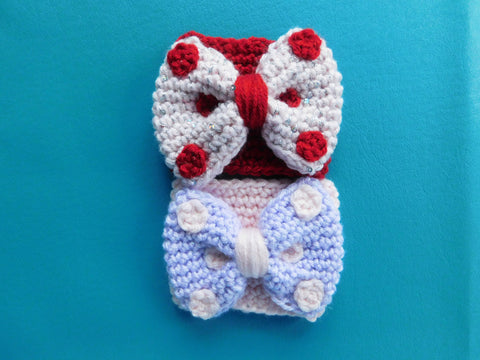 Valentine's Day Bow Coffee Cozy