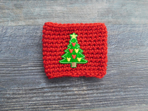 Christmas Tree Coffee Cozy