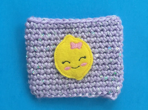 Violet Lemonade Coffee Cozy