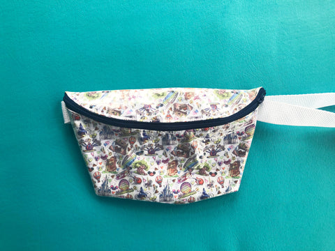Ready to Ship Mini Park Hop Fanny Pack + Water Proof Upgrade