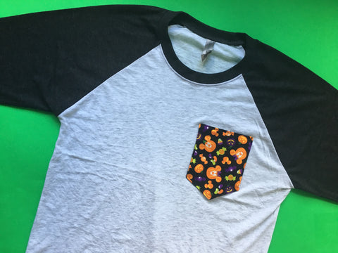Fall Unisex Raglan Pocket Tee