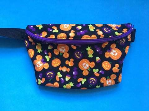 Black Pumpkin Fanny Pack