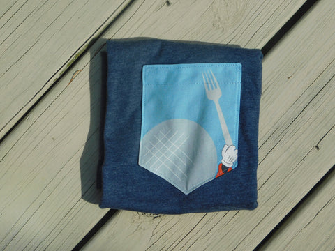 Food and Fork Pocket Tee