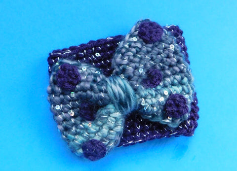 Purple Potion Bow Coffee Cozy