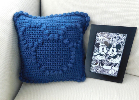 Crocheted Mouse Pillow