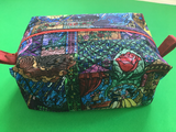 Stained Glass Tale As Old As Time Make Up Bag