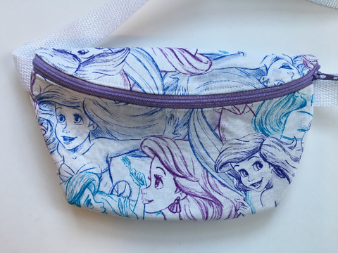 Tiny Mermaid White Fanny Pack