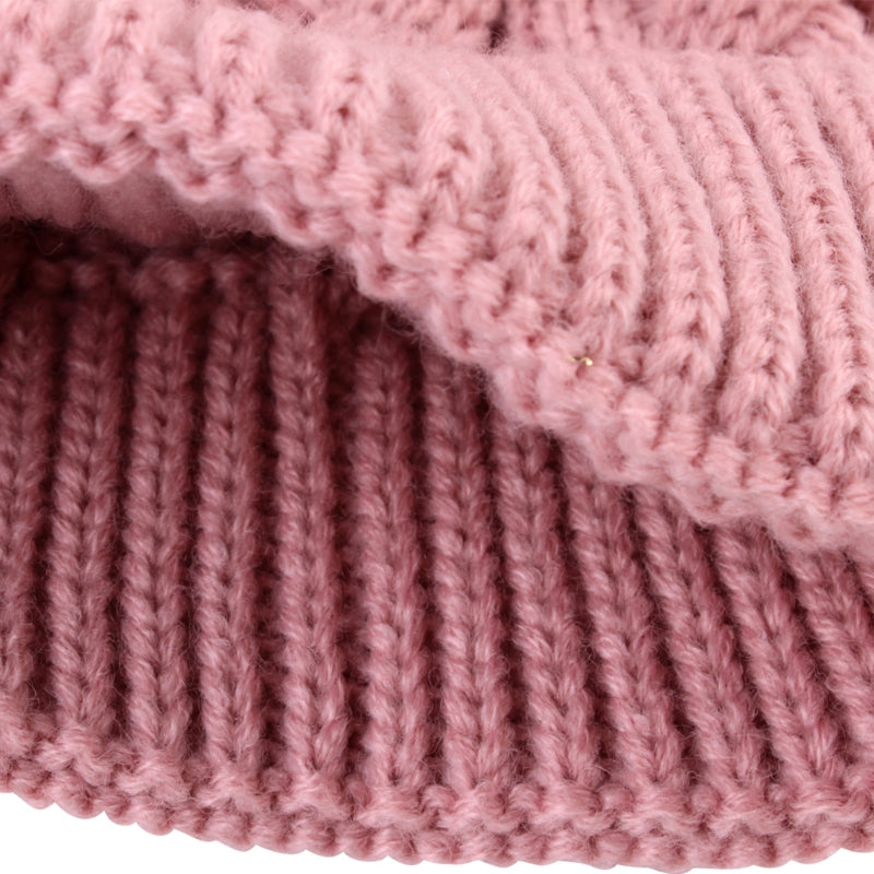 2Pcs Mother Kid Child Hats Warm Winter Knit Beanie Caps Mom Baby Crochet Hats