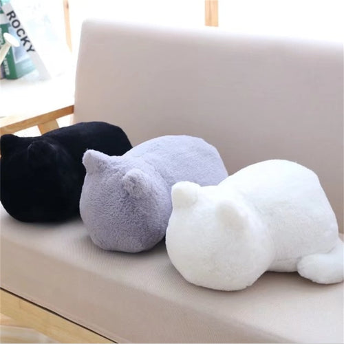 1pcs Cute Soft Cat Stuffed Pillow Lovely Kawaii Animal Plush Shadow Cat Plush Toy For Kids Gift Home Decoration