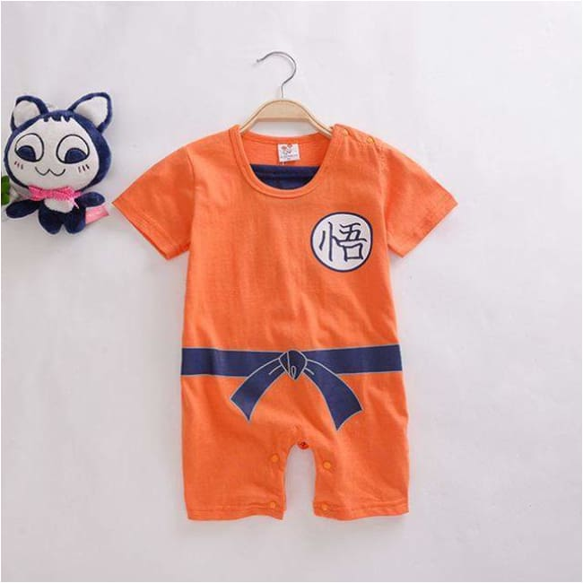 Grenouillère Bébé Dragon Ball - Orange / 12M