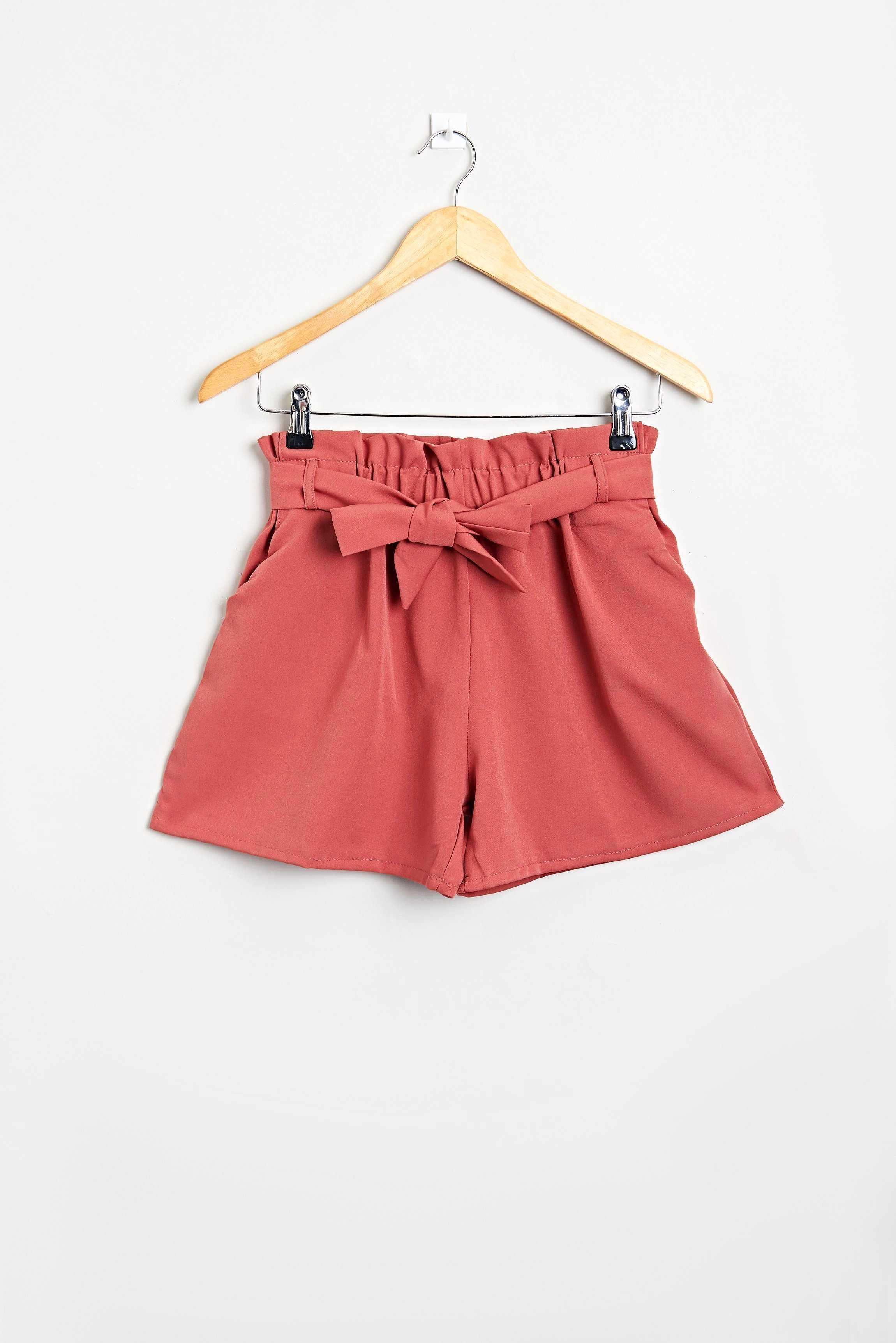 Pleated Shorts Brown