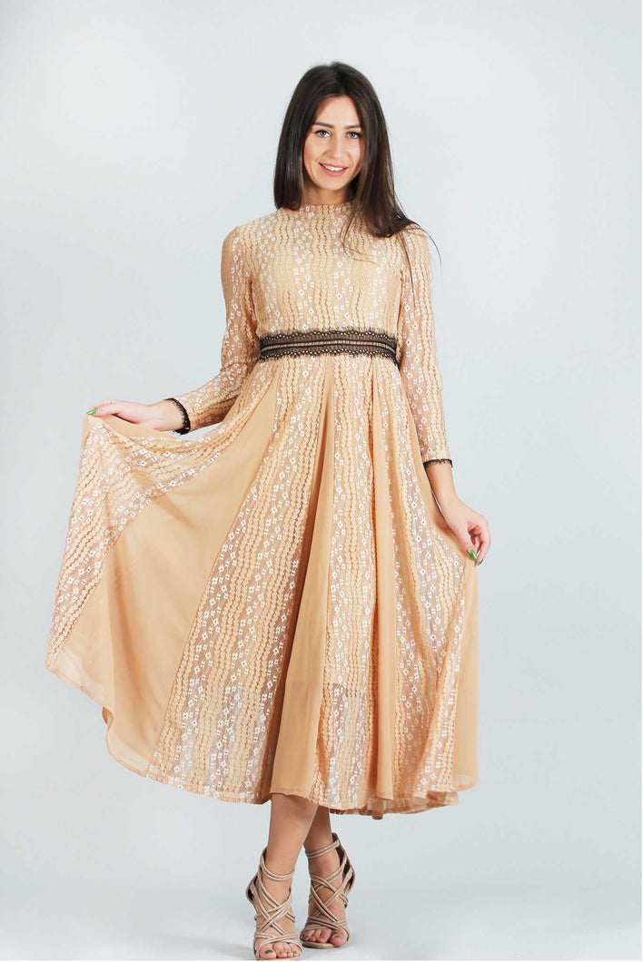 Lacey Macey Dress Brown