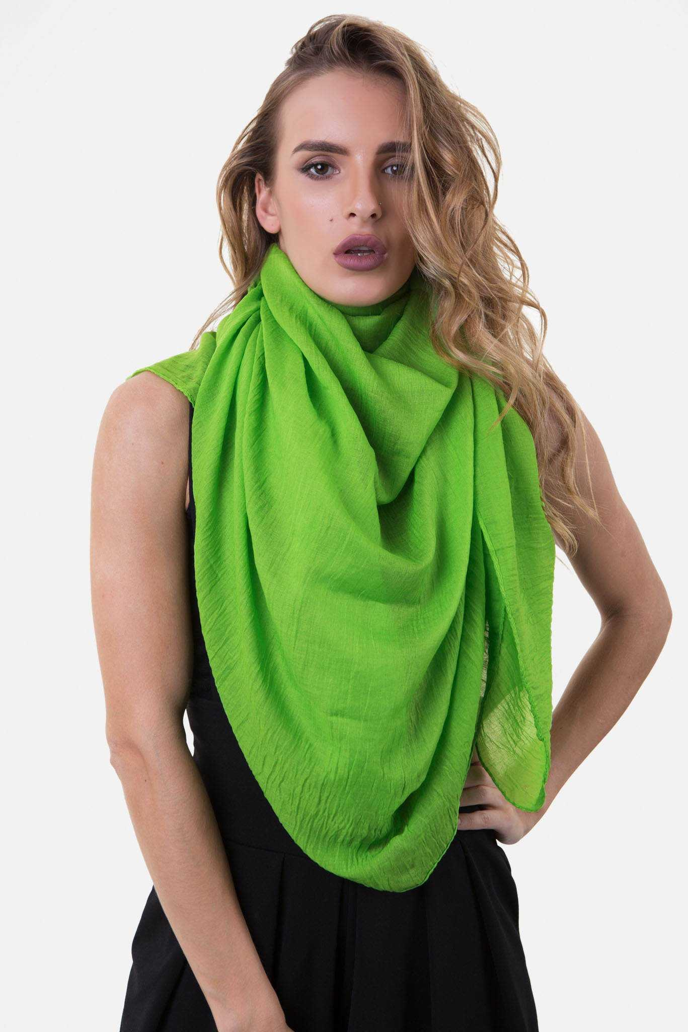 Scarf - Parrot Green | Raw Orange