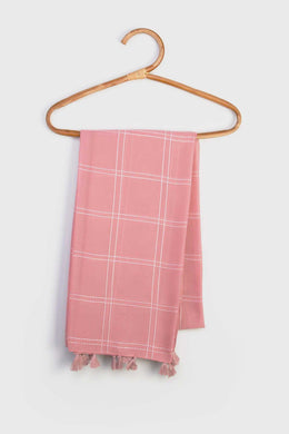 Striped Scarf - Pink | Raw Orange