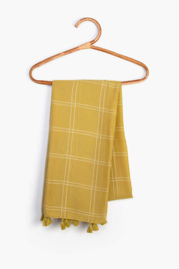Striped Scarf - Mustard