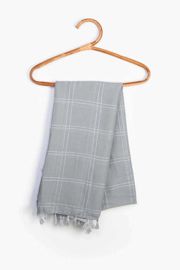 Striped Scarf - Grey | Raw Orange