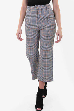 Gingham Checkered Pants | Raw Orange
