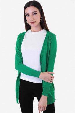 Long  Cardigan - Green