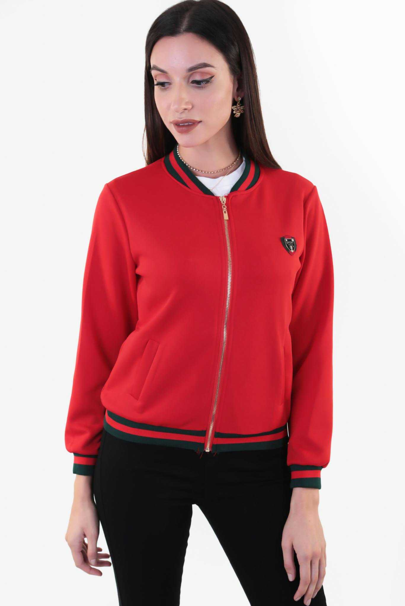 Scuba Bomber Jacket - Red | Raw Orange