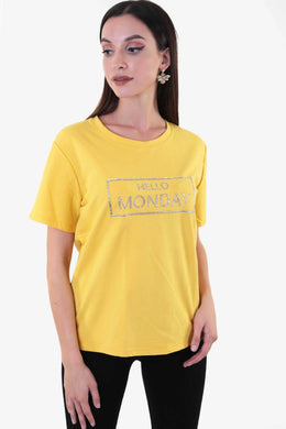 Hello Monday Top Yellow | Raw Orange