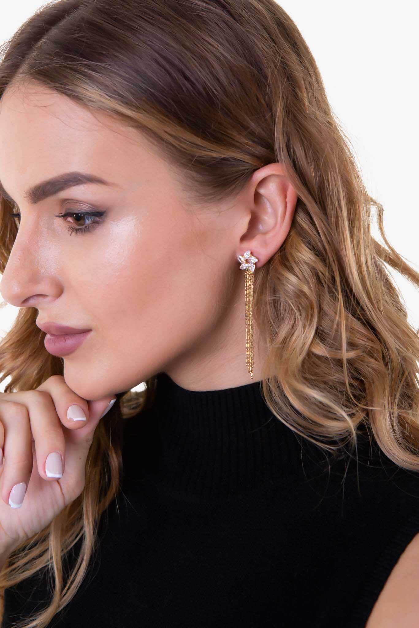 Floral Studs Cluster Earrings