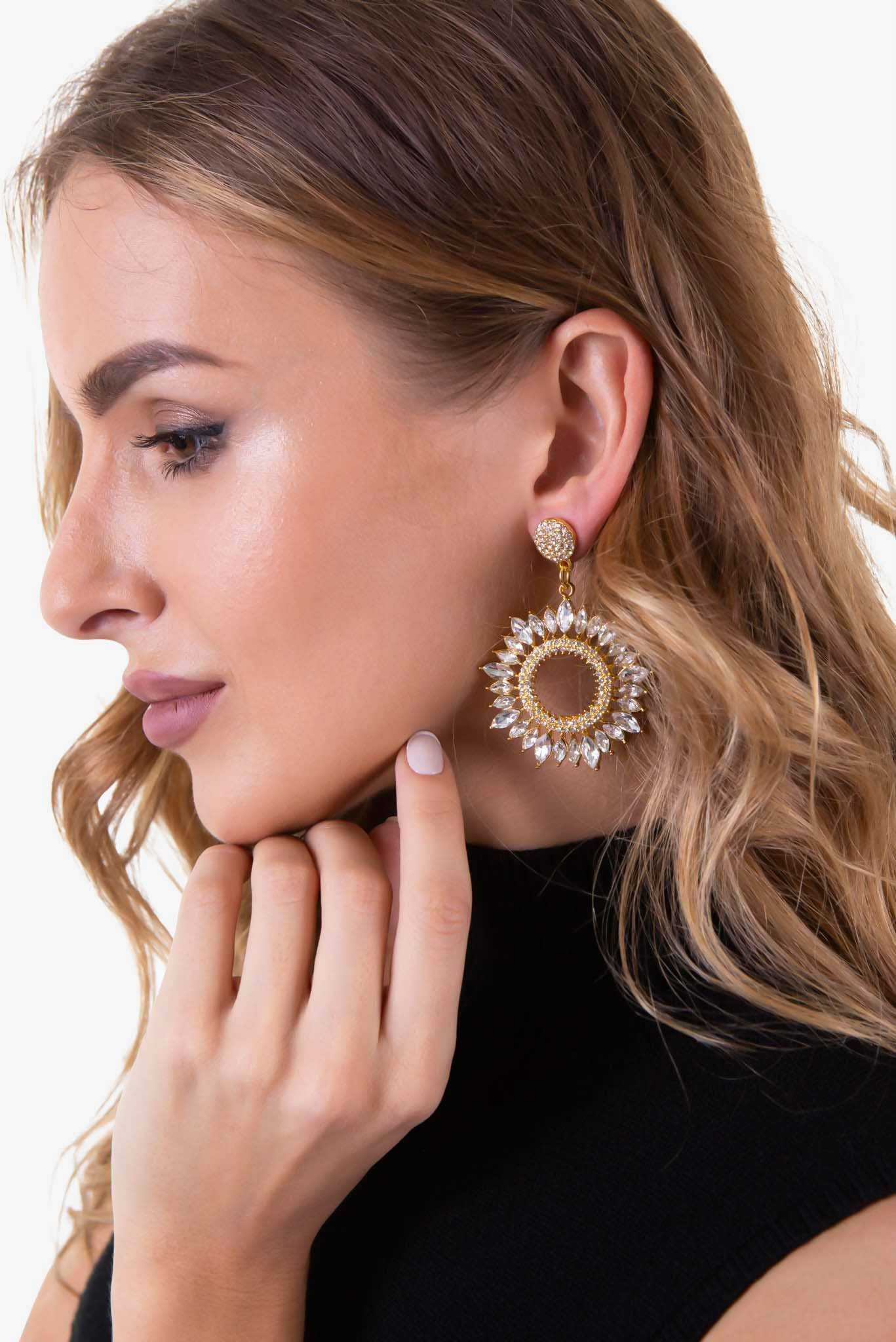 Ornate Round Earrings | Raw Orange