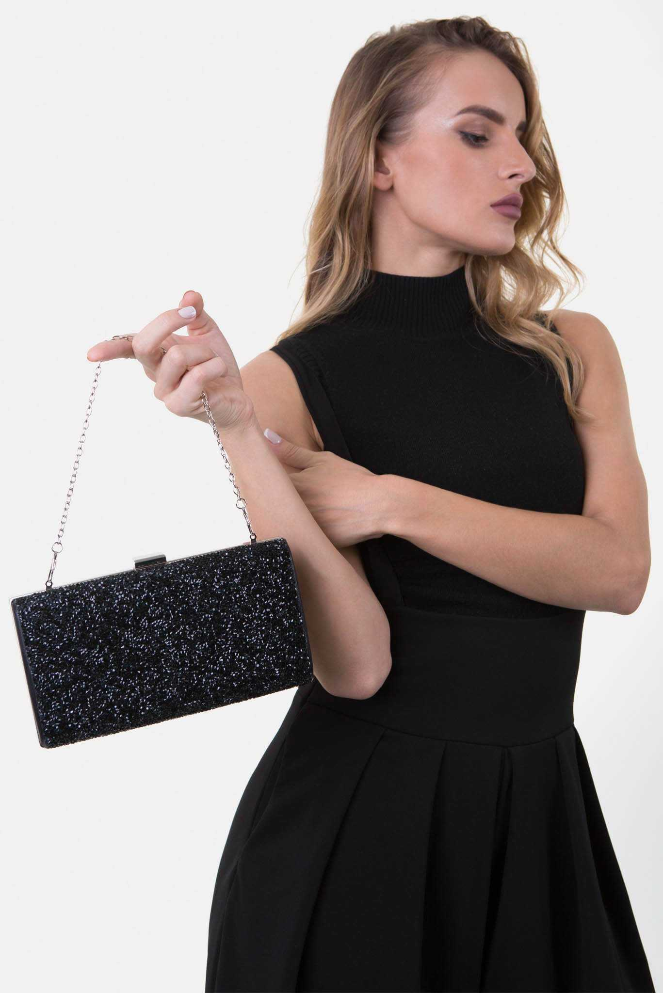 Glamorous Clutch - Black | Raw Orange