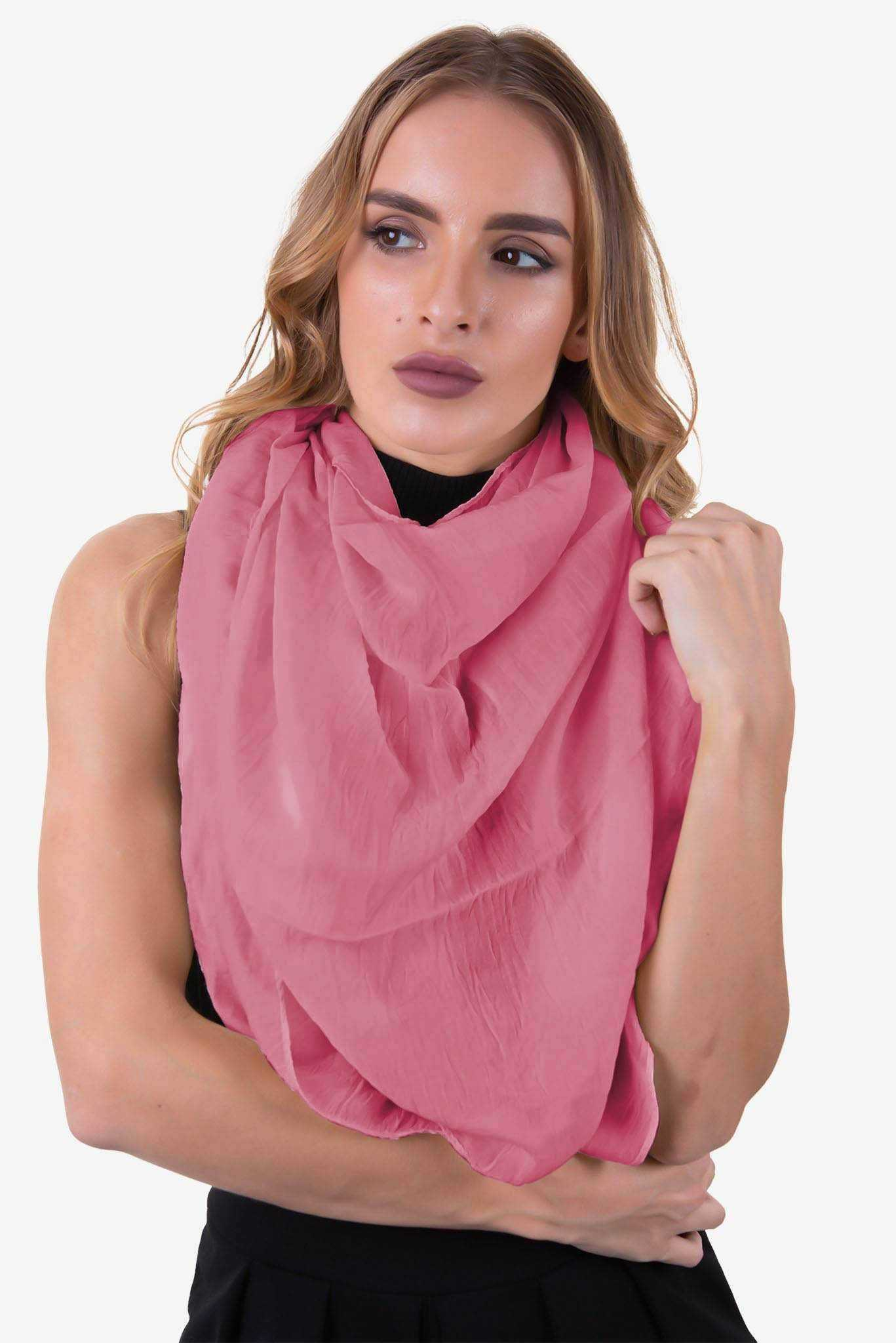 Scarf - Dark Pink | Raw Orange