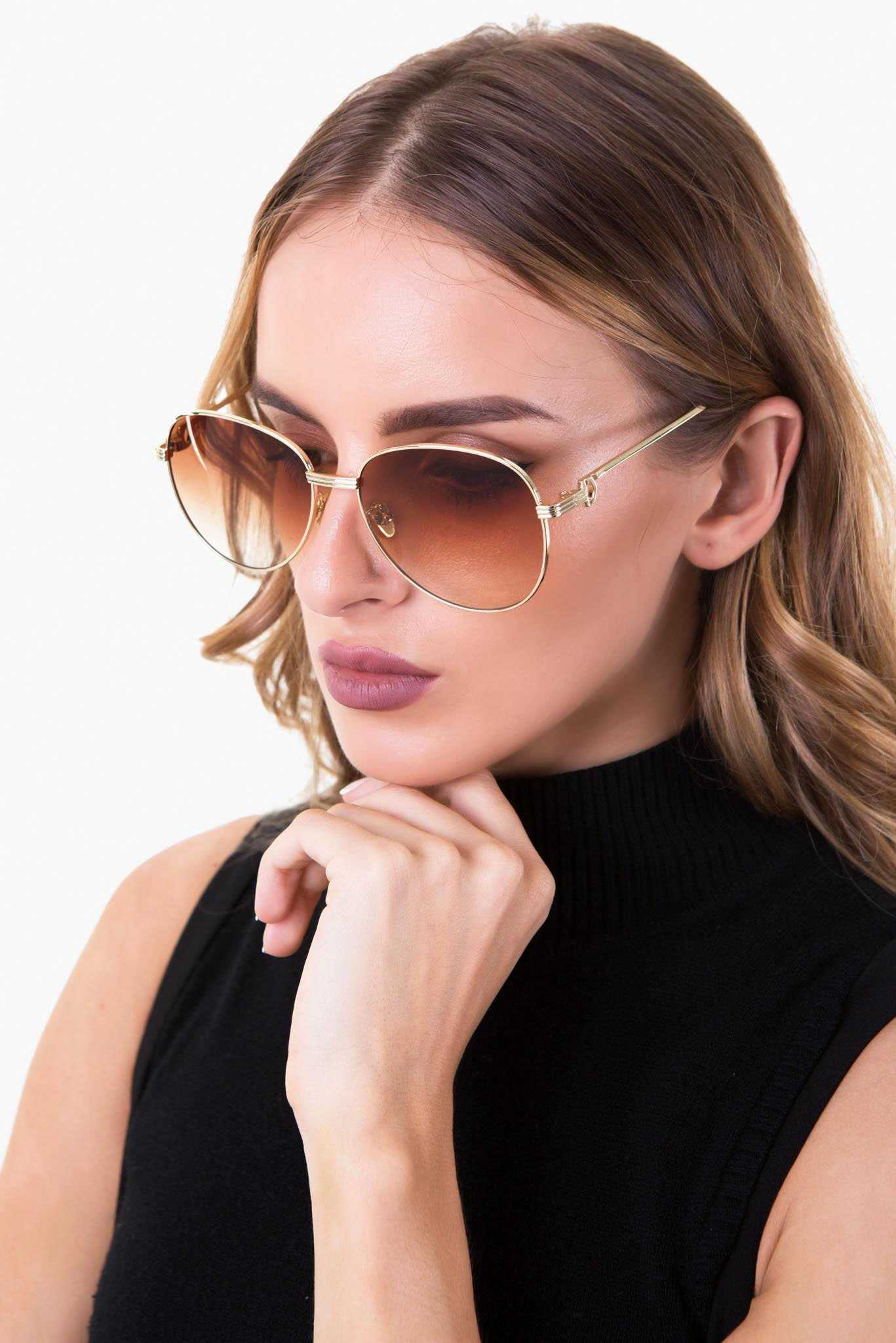 Bossy Brown Sunglasses | Raw Orange
