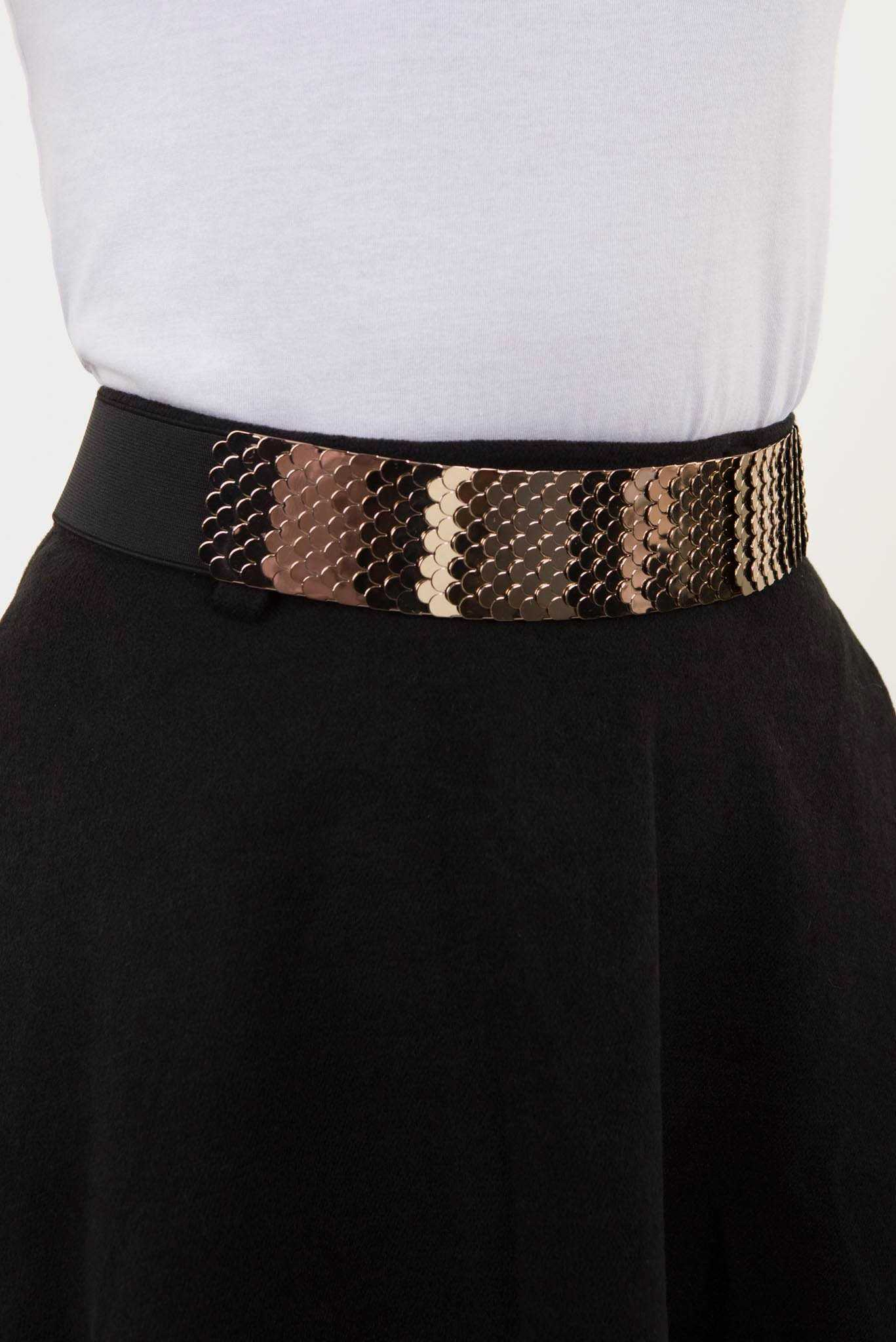 Metal Waist Belt Gold | Raw Orange