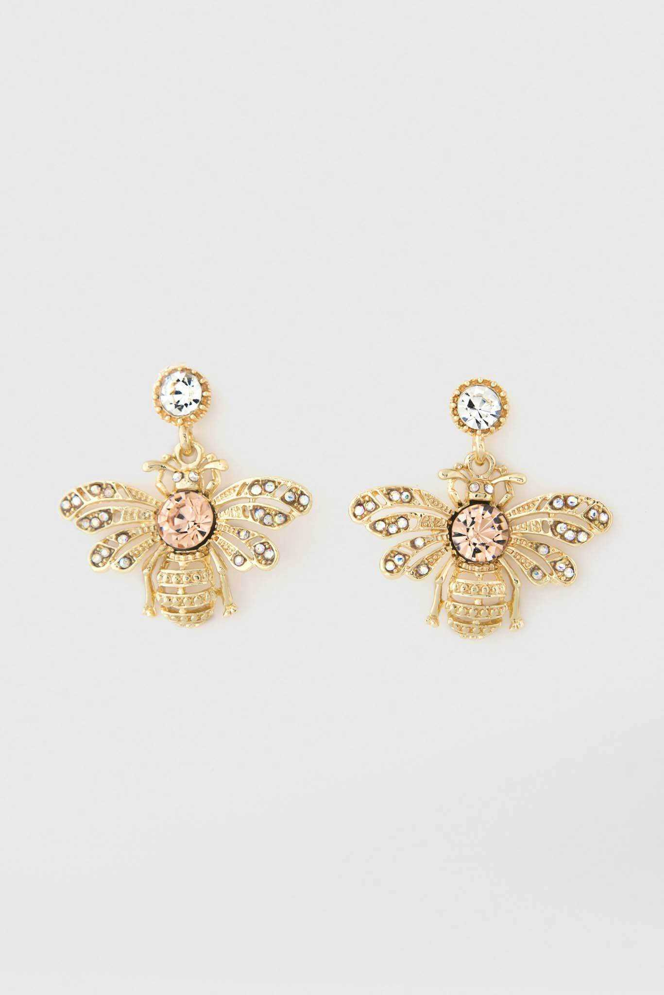 Butterfly Earrings | Raw Orange