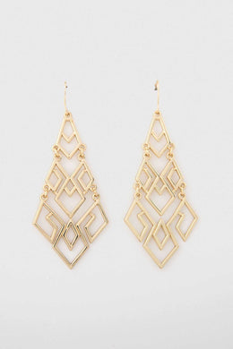 Brocade Earrings | Raw Orange