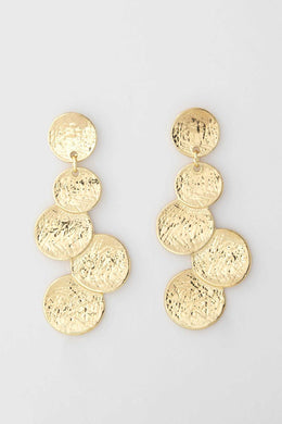 Gold Tiered Earrings