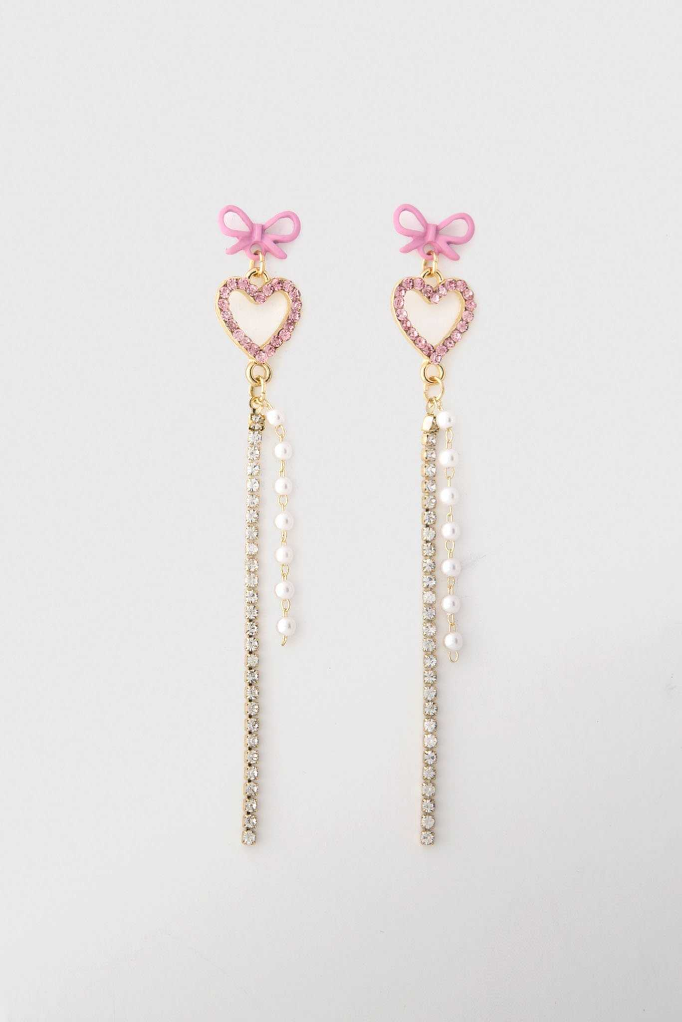 Heart Drop Chain - Pink and Gold | Raw Orange