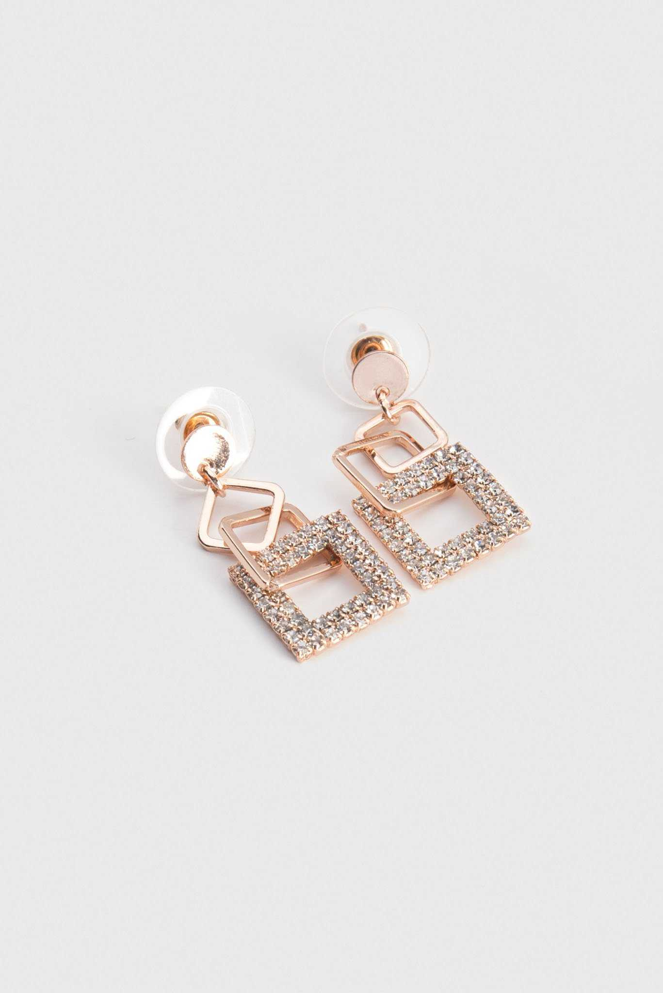 Rose Gold Earrings | Raw Orange