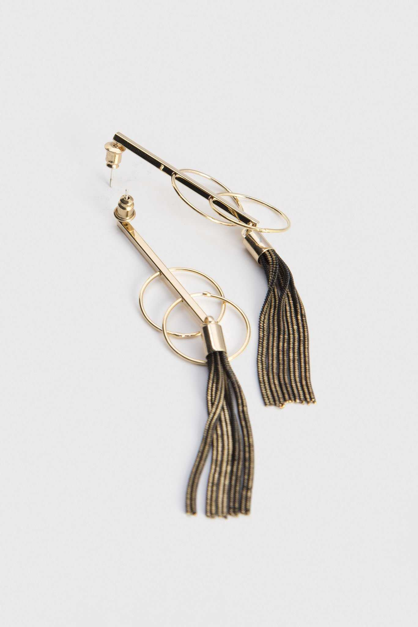 Dangling Duster Earrings | Raw Orange