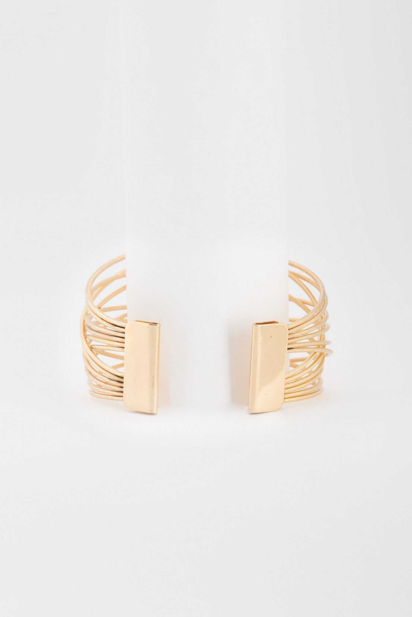 Entangled Bangles- Gold | Raw Orange