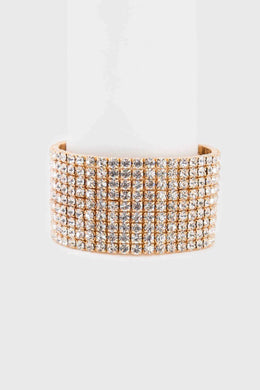 Rhinestone Bracelet | Raw Orange