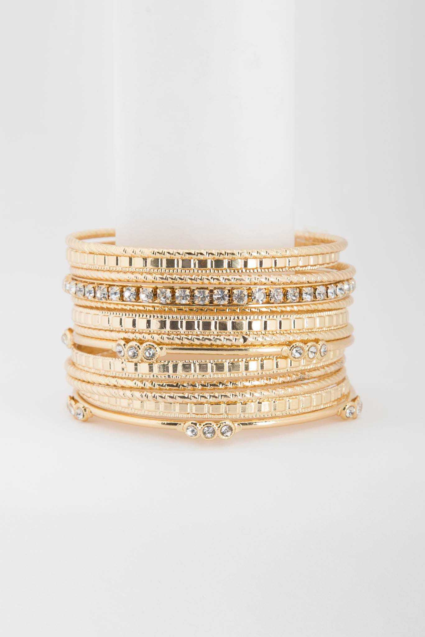 Gold Bangles | Raw Orange