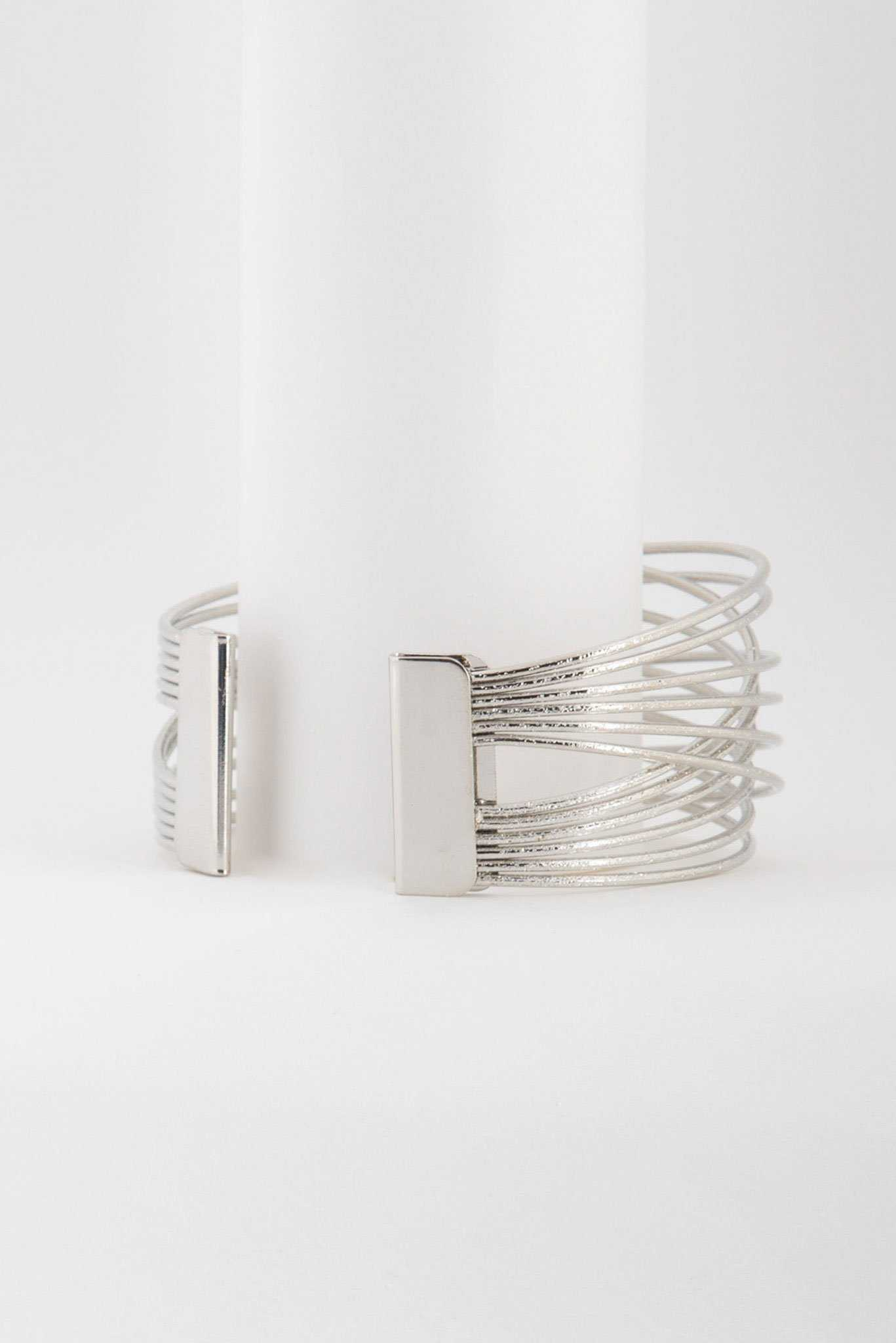 Entangled Bangles - Silver | Raw Orange
