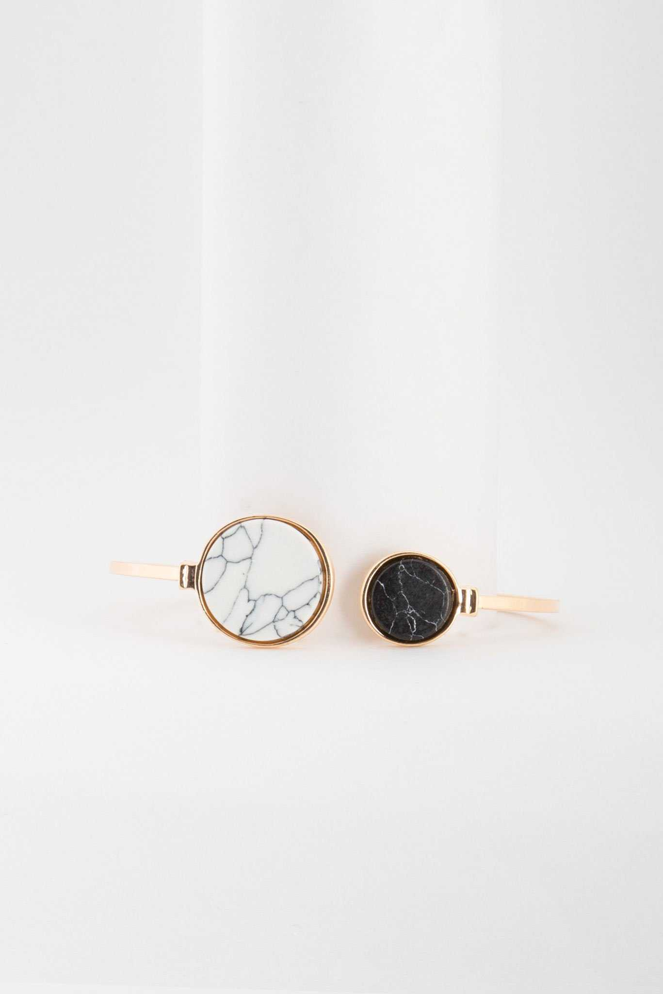 Marble Stud Bracelet | Raw Orange