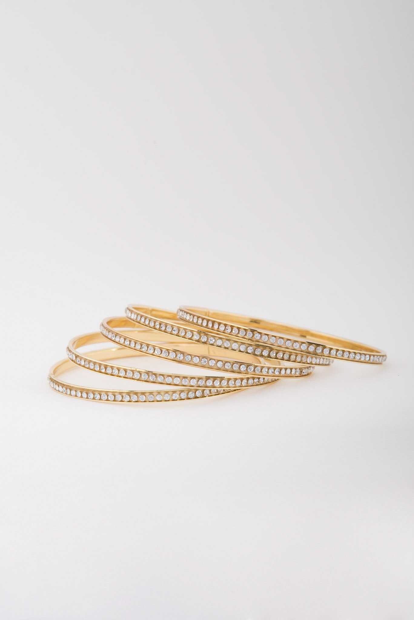 Rhinestone Bangles | Raw Orange