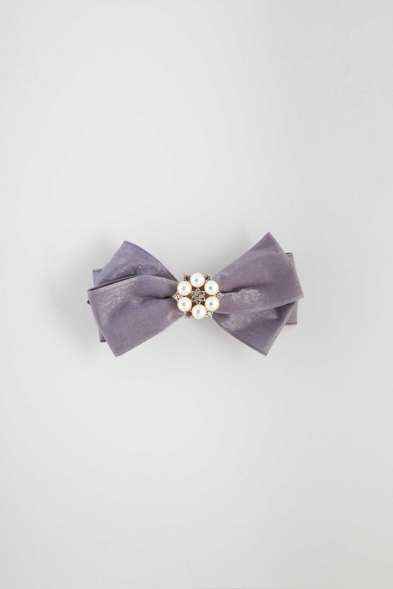 Pearly Hair Clip - Grey | Raw Orange